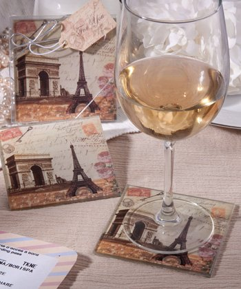 Vintage Paris Themed Eiffel Tower Coaster Sets , 72