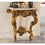 Design Toscano Madame Antoinette Wall Console Table in Faux Antique Gold