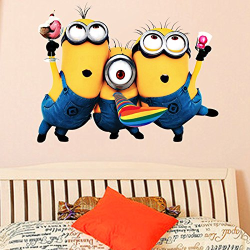 [WOW 3D Minions Wall Decals Vinyl Stickers Art Home Room Decor 10