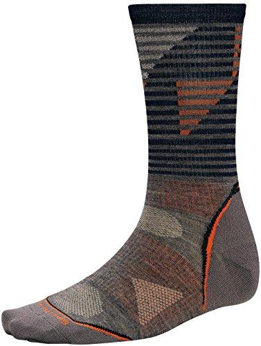 Smartwool PhD® Outdoor Ultra Light Pattern Crew Performance Socks, Taupe, Medium Taupe Mens Socks