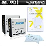 2 Pack Battery Kit For Fujifilm FinePix F660EXR, XF1, F750EXR, F550EXR, F500EXR, F80EXR, F600EXR, F505, F800EXR, X20, F850EXR, F900EXR Digital Camera Includes 2 Replacement NP-50 Batteries + More