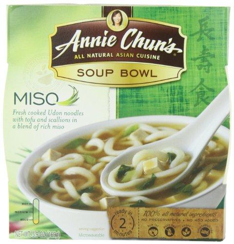 Annie Chun'S Miso Soup Noodle Bowl, 5.9-Ounce Bowls (Pack Of 6)