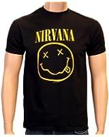 Coole-Fun-T-Shirts T-Shirt Nirvana Smiley Druck Vorne + Hinten