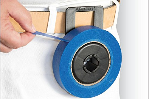 Tape Tool Tape Dispenser - Best For Professional and DIY Painting, Automotive Body Work & Home Repair. Hands-Free, Portable, Clip-On Accessory For Painters and Home Improvement (Black) (Painters Tape Dispenser compare prices)
