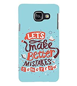 Printvisa Premium Back Cover Improvisation Quote For Future Design For Samsung Galaxy A3 (2016)::Samsung Galaxy A3 (2016) Duos with dual-SIM card slots