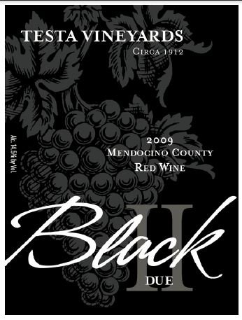 2009 Testa Vineyards Mendocino County Black Ii Due 750 Ml