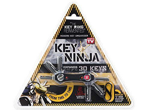 Key Ninja - Organize Up To 30 Keys, Dual LED Lights, Built In Bottle Opener (NOW IMPROVED) by Key Ninja