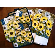 Cute Sunflower Daisy Kitchen Towels (Set Of 6)