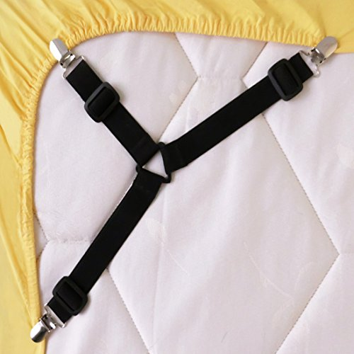 Lowest Price! Bed Suspender Gripper/Strap/Holder/Fastener for Your Bed. Triangle Model. (Black). Pat...