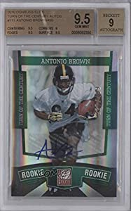 Buy Antonio Brown BGS GRADED 9.5 #227 499 Pittsburgh Steelers, Central Michigan Chippewas (Football... by Donruss Elite