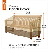 Classic Accessories Veranda Patio Bench/Loveseat/Sofa Cover - Durable and Water Resistant Outdoor Furniture Cover, Small (70992)