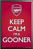 Fußball – Poster – Arsenal – Keep Calm + Wechselrahmen der Marke Shinsuke® Maxi aus edlem Aluminium (ALU) Profil: 30mm schwarz