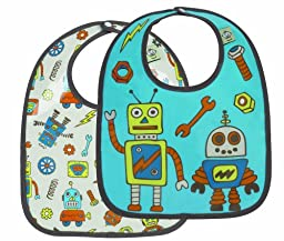 Sugarbooger Mini Bib Gift Set, Retro Robot, 2 Count