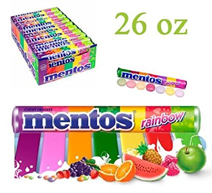 Mentos Rainbow Roll 20 Packs of Mentos Rainbow