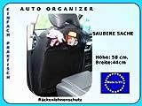 2 X Rückenlehnenschutz Autoorganizer Sitzschoner abwaschbare Stoff