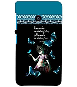 PrintDhaba Quote D-4098 Back Case Cover for NOKIA LUMIA 530 (Multi-Coloured)