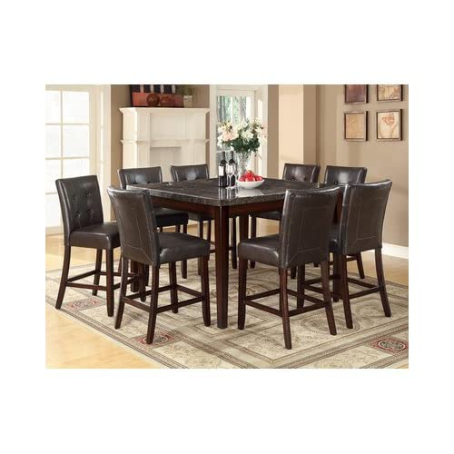 Laurence 9 piece counter height dining set for Dining room sets under 500 00