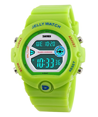 SKMEI Children's SK1153C Outdoor Sports Multifunction Waterproof Digital Electronic Watch Lime Green (Top Digital Watches compare prices)