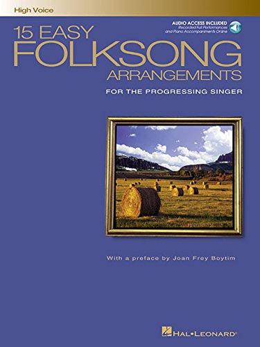 15 Easy Folksong Arrangements: High Voice Introduction by Joan Frey Boytim (Vocal Collection) PDF