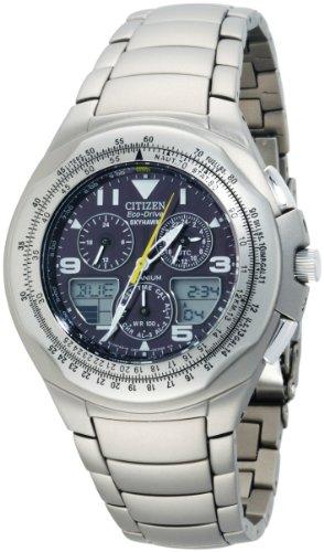 Citizen Men's JR3060-59F Eco-Drive Titanium Skyhawk Chronograph Watch