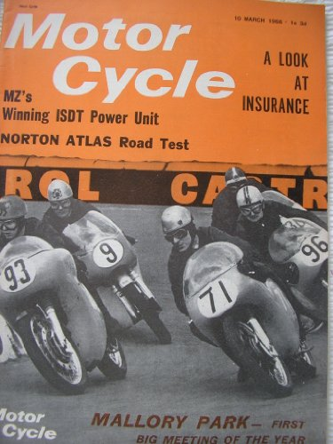 Motor Cycle Magazine 1966 Golden Age Of Motorcycling