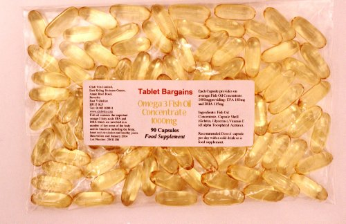 Tablet Bargains Omega-3 Fish Oil 1000mg - 90 Capsules