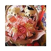 結婚祝いプレゼント 花 フラワーギフト ウェディングベアー入り プリザーブドフラワー