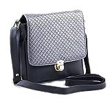 Voaka Women's Black Silver Sling Bag