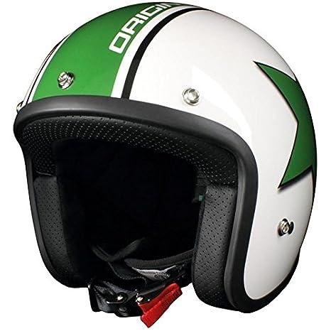 Casque moto jet ORIGINE PRIMO ASTRO - Blanc / Vert