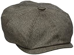 Stetson Men's Cashmere Silk Blend 8/4 Cap with Lining, Brown, X-Large