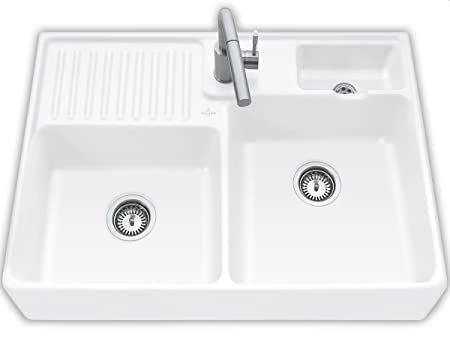 Villeroy & Boch Double Basin Sink/Double-Basin Sink/Snow White Ceramicplus