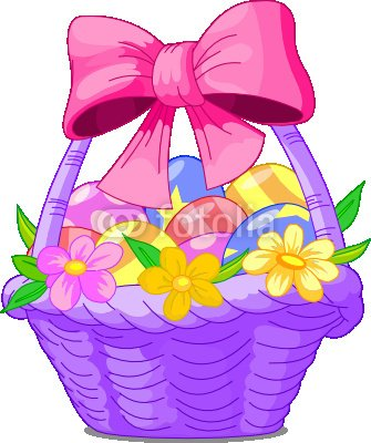 """Wallmonkeys Peel and Stick Wall Decals - Easter Basket - 24""""H x 20""""W Removable Graphic"""
