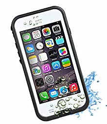 HESGI New Design iPhone 6 4.7 inch Waterproof Case [New Design Version] 6.6ft Underwater Waterproof Shockproof Snowproof Dirtpoof Protection Case,White