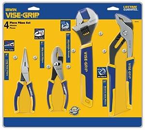 IRWIN VISE-GRIP Pliers & Wrench Set, 4-Piece (2078705) (Color: Blue)