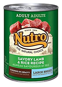 The Nutro Company Large Breed Adult Dog Food Can with Lamb and Rice Formula, 12.5-Ounce, Pack of 12