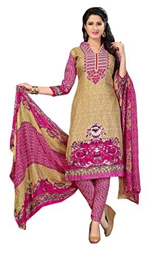 Beige Pashmina buti Pakistani Suit Salwar Suit