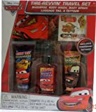 Disney Pixar Cars Tire-Revvin' Travel Set - Shampoo, Body Wash, Body Spray, Luggage Tag, & Tattoos