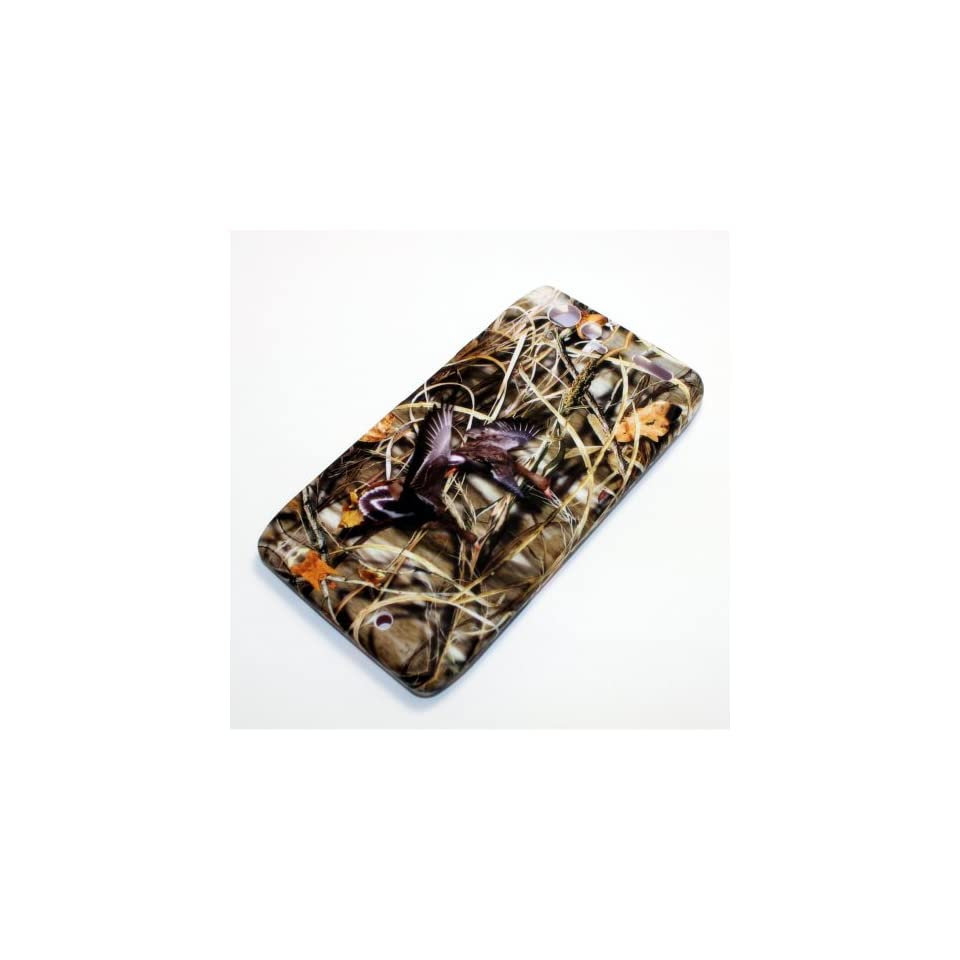 Motorola Droid RAZR XT912 XT 912 Wild Duck Hunt Dried Leaves Design Snap On Hard Protective Cover Case Cell Phone