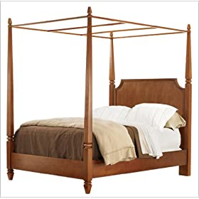 Stanley Furniture American Perspective Canopy Bedroom Set in Beeswax Cherry