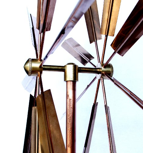 Stanwood-Wind-Sculpture-Kinetic-Copper-Wind-Sculpture-Double-Windmill-Spinner
