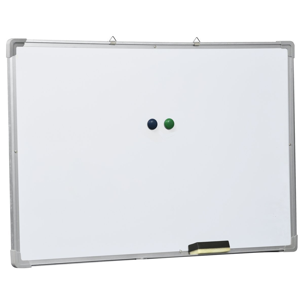 Ogima® Magic Whiteboard Magnetic Writing Dry Erase Board Office, Silver Aluminum Frame + Free Eraser and Magnetic Nail (48 x 36 inches)