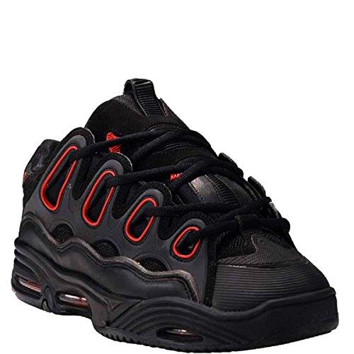 OSIRIS D3 2001 Red Black Dave Mayhew Skate Skateboard Shoes, Nero (nero), 49