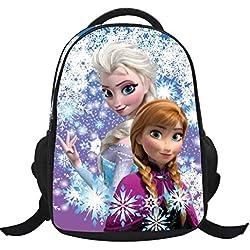 MissFox Backpack School Bag Zaino Frozen Principesse Anna E Elsa E Olaf Zainetto Ragazze C7