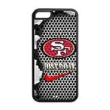 NFL San Francisco 49ers Logo Iphone 5C Case Nike Logo Case Cover-black&white
