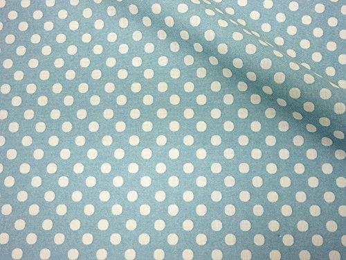 LECIEN (ルシアン) Color Basic 5mm ドット シーチング 生地 綿100% 約110cm巾×1mカット col.SS ブルー 4506