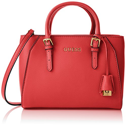 Guess Sissi Small Satchel Borsa a Mano, Donna, Rosso
