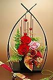 Amazon.co.jp思い出の碑(桃紅花) プリザーブドフラワー プレゼント 和風 豪華 還暦祝い 退職祝い 長寿 ギフト 誕生日
