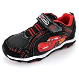 Disney Cars Boys Black Lighted Sneakers Shoes