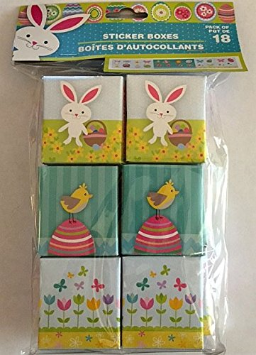 Easter Sticker Box 18 Boxes Count
