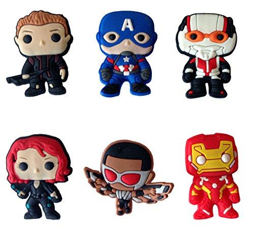 Avengers Fridge Magnets 6 Pcs Set #5 (Marvel Magnets compare prices)